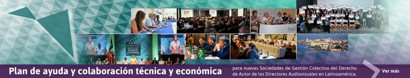 Plan de ayuda y colaboración técnica y económica para nuevas Sociedades de Gestión Colectiva del Derecho de Autor de los Directores Audiovisuales en Latinoamérca.
